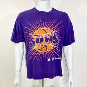 NBA VTG Phoenix Suns Shirt XL 90s Single Stitch